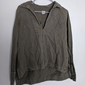O'Neill Olive Army Green Tunic Long Sleeve Blouse